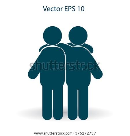 friendship vector icon - stock vector