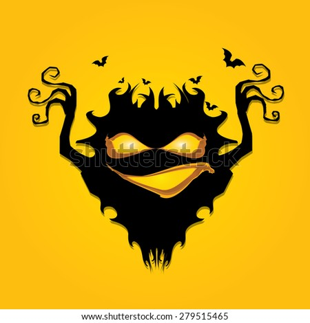 frightening monster. nightmares concept illustration - stock vector