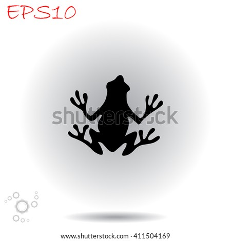 Frog icon. Frog vector. Frog illustration. Frog icon logo. Frog icon Eps10. Frog icon web. Frog icon sign. Frog icon art. Frog icon image. Frog icon UI. Frog icon flat. Frog icon eps. - stock vector