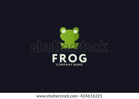 frog logo. frog icon. frog sign - stock vector