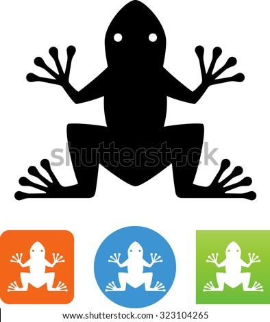 Frog symbol. - stock vector