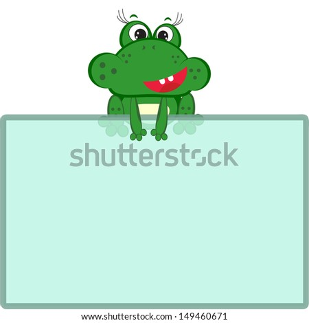 Frog Frame Stock Vector HD (Royalty Free) 149460671 - Shutterstock