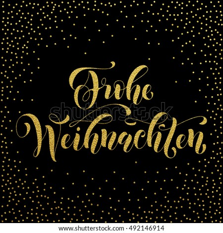 frohe weihnachten gold glitter modern lettering stock. Black Bedroom Furniture Sets. Home Design Ideas