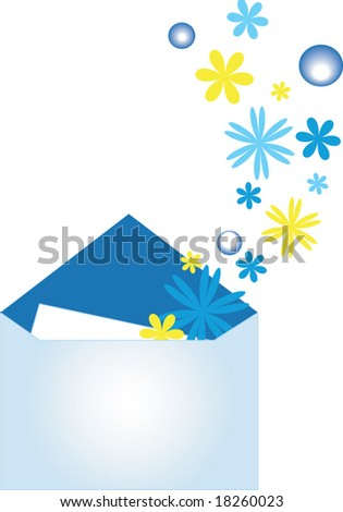 From the envelope with the congratulatory card, depart many small it is flowering