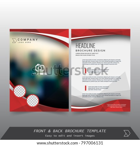 Front Back Cover Modern Business Brochure Stock Vector 797006131