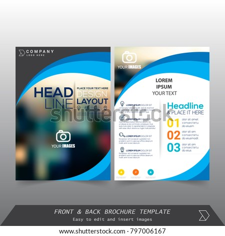 Front Back Cover Modern Business Brochure Stock Vector 797006167