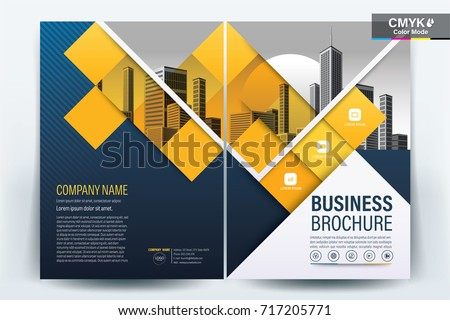 Front Back Cover Modern Business Brochure Stock Vector 2018