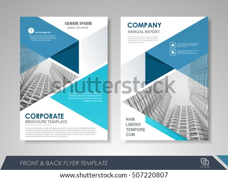 free business report front page design