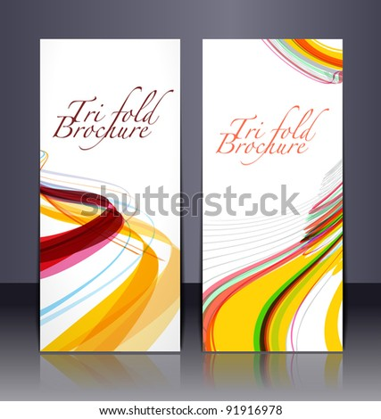 front design of Tri-fold brochure - stock vector