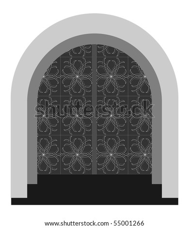Front door - stock vector