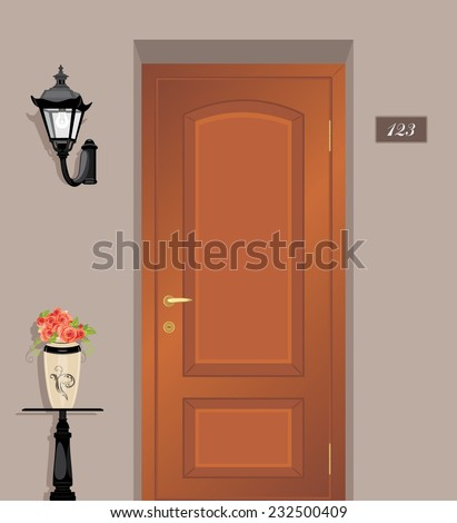 Apartment Front Door Stock Images, Royalty-Free Images & Vectors ...