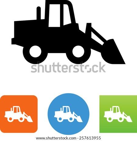Front loader symbol for download. Vector icons for video, mobile apps, Web sites and print projects.  - stock vector