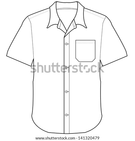front shirt vector  - stock vector