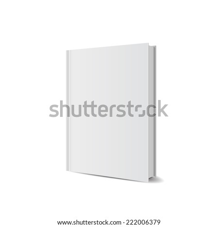 front view of Blank book cover white. vector illustrations - stock vector