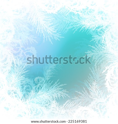 frosty pattern vector background - stock vector