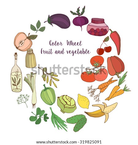 Fruit and vegetables.Colorful background.