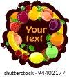 Fruit background, vector - stock photo