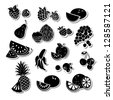 Fruit icons - stock