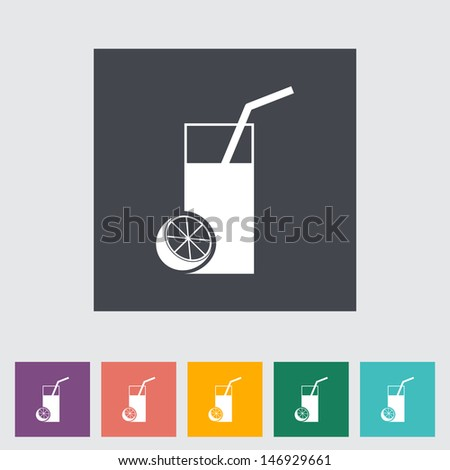 Fruit juice flat icon. Vector illustration. - stock vector