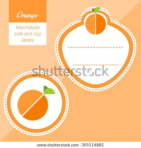 Fruit, orange label graphic - stock vector