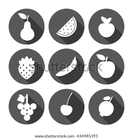 Fruit Sweet Icons Monochrome Series