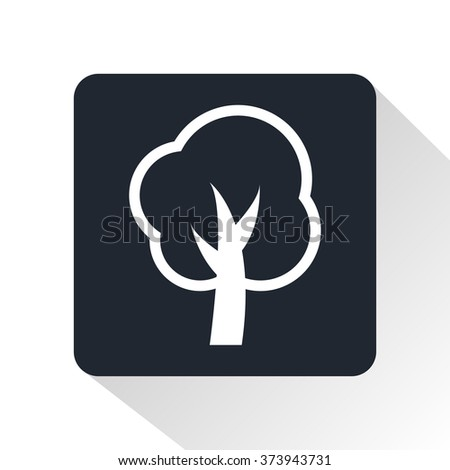 fruit-tree icon - stock vector