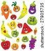fruit & vegetable - stock vector