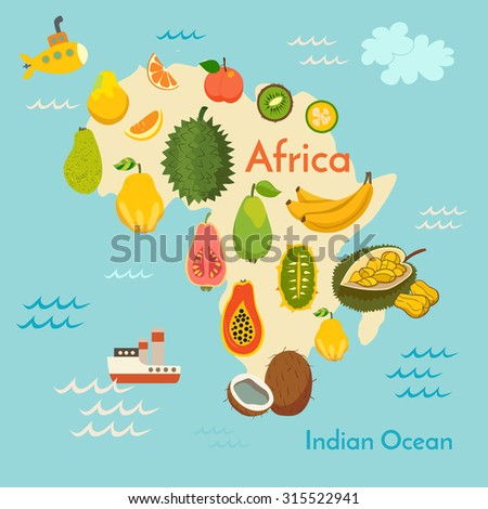 Fruit world map africa vector illustration stock vector 315522941 fruit world map africa vector illustration preschool baby continents oceans gumiabroncs Choice Image