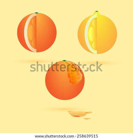 fruits and vegetables for a healthy diet - stock vector