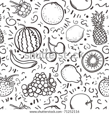Fruits background - stock vector