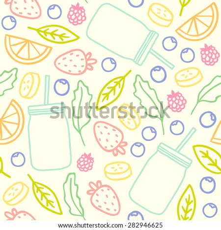 Mason jar pattern stock images royalty free images vectors fruits berries and smoothie jars outline seamless pattern pronofoot35fo Images