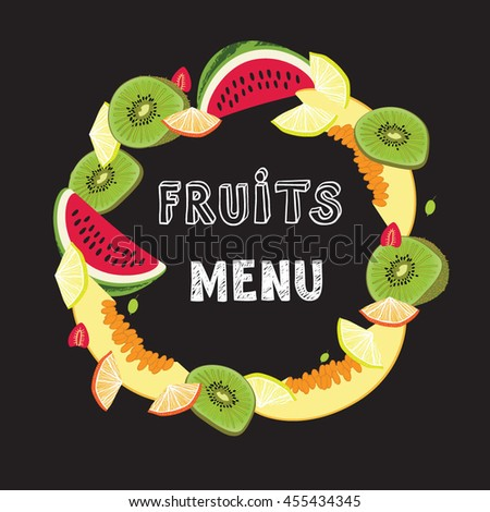 fruits for menu frame