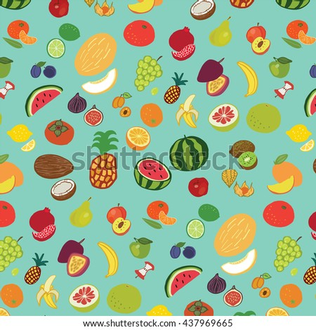 fruits graphic vector color pattern - stock vector