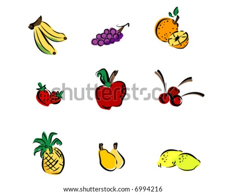 Fruits Icons - Vector