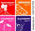 Fruits label design. - stock vector