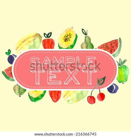 Fruits, vector