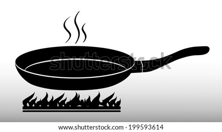 Frying Pan Stock Vector 199593614 - Shutterstock