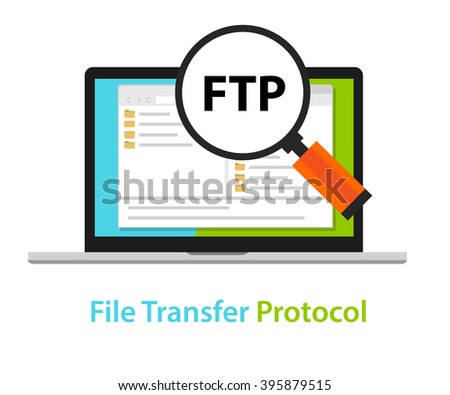 FTP file transfer protocol computer icon symbol illustration