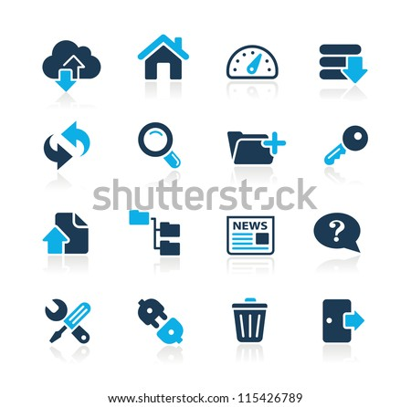 FTP & Hosting Icons // Azure Series - stock vector