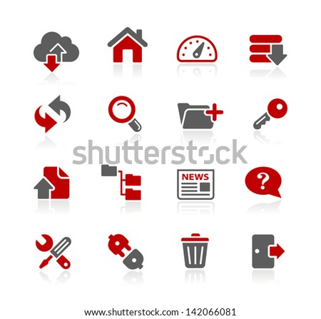 FTP & Hosting Icons // Redico Series - stock vector