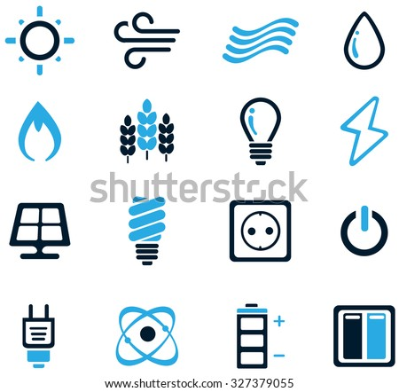 Fuel and Power Generation Web Icons - stock vector