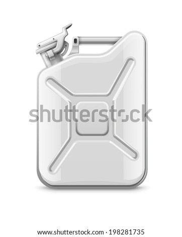 Fuel can for petrol. Eps10 vector illustration. Isolated on white background - stock vector