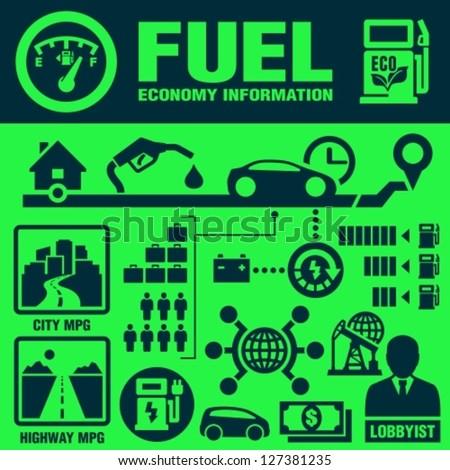 Fuel economy - stock vector