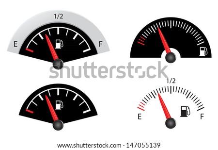 fuel gauge - stock vector