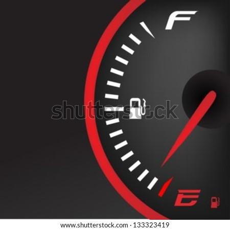 Fuel gauge dash board - stock vector