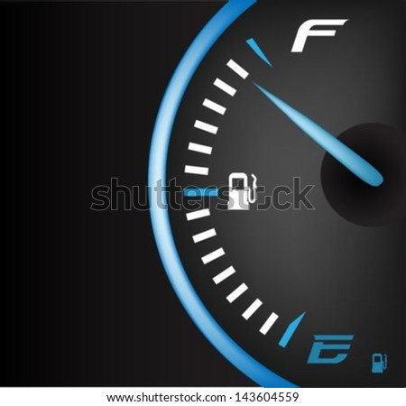 Fuel gauge full - stock vector