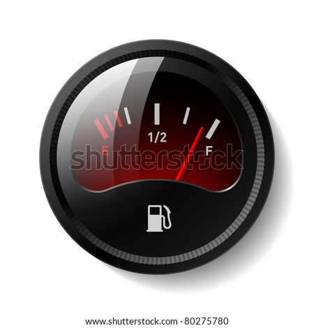 Fuel gauge. Vector. - stock vector