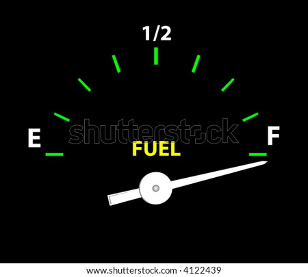 Fuel Guage (Vector image fully resizable and editable) - stock vector