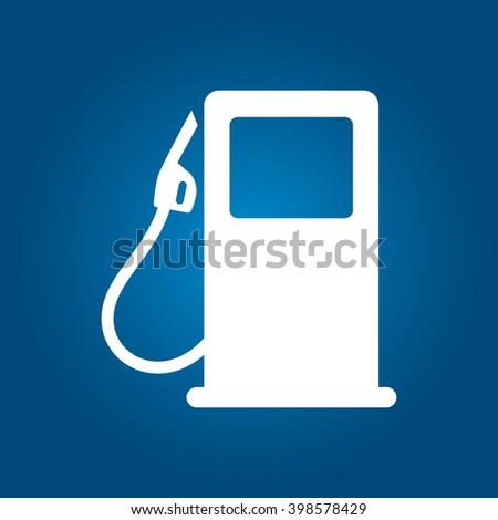 Fuel icon, fuel pump illustration - stock vector