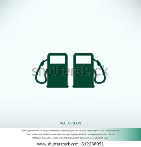 Fuel icons - stock vector